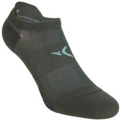 Chaussettes invisibles fitness cardio training x2 kaki