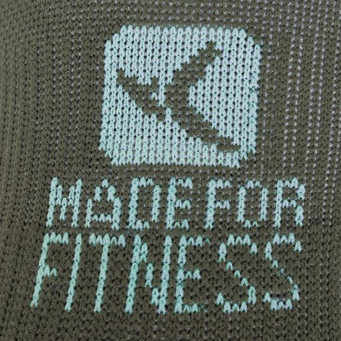 Sportsokken fitness onzichtbaar 2 paar, kaki