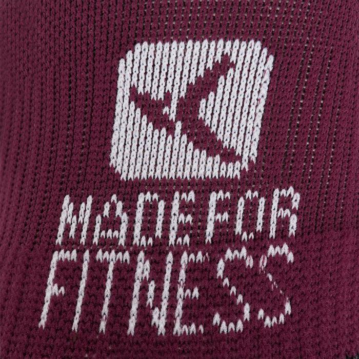 Sportsocken Invisible Cardio-/Fitnesstraining 2er-Pack violett