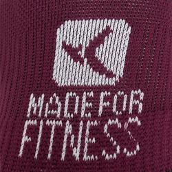 Sportsokken fitness onzichtbaar 2 paar, paars