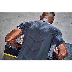 T-Shirt FTS 900 Fitness Cardio Herren dunkelgrau