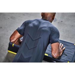 Cardiofitness T-shirt voor heren FTS 900 zwart grijs