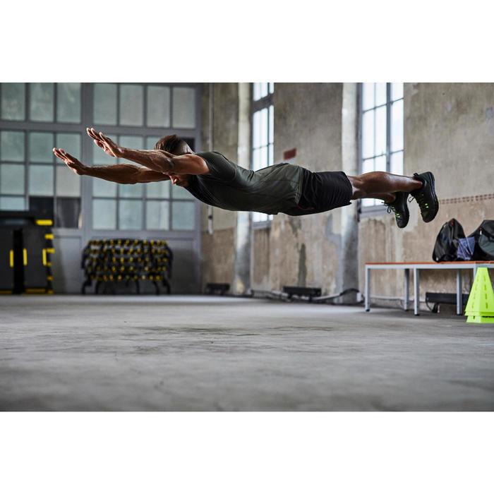 Tee shirt cardio fitness homme FTS 900 kaki