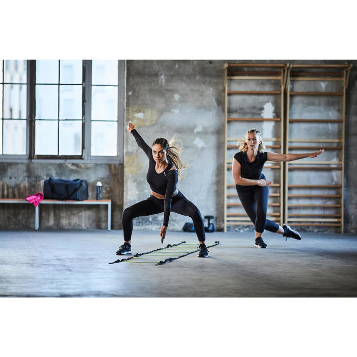 女款有氧健身訓練鞋920-黑色/白色/粉紅色
