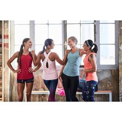 Débardeur réversible cardio fitness femme kaki 520