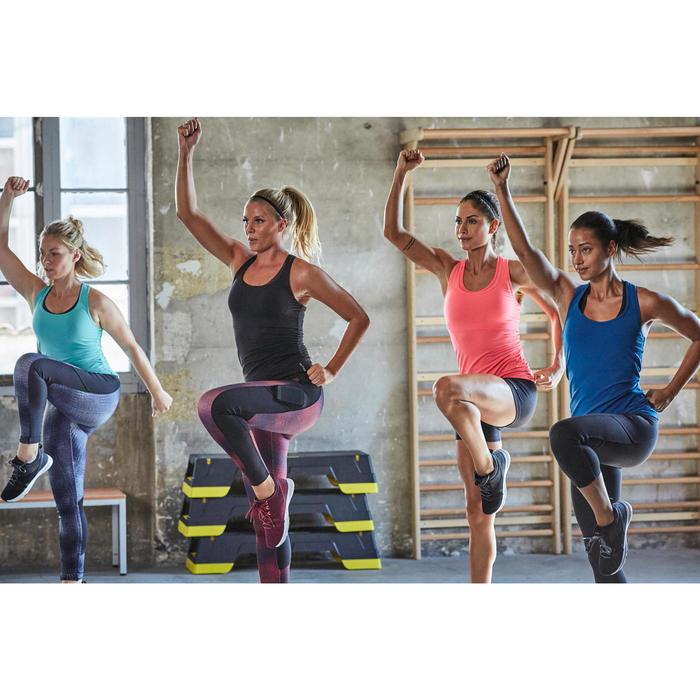 Débardeur fitness cardio training femme bleu 100