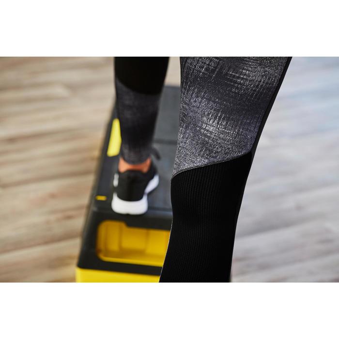 Legging cardio fitness femme gris imprimé 120
