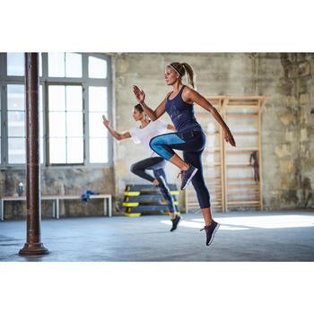 7/8 Leggings FLE 120 Fitness Cardio Damen blau mit Print