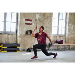Fitnessschuhe Fitness Cardio 120 Mid Damen bordeauxrot