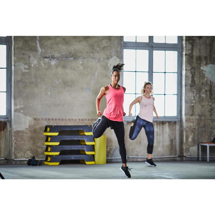 Fitnessschuhe Cardiotraining 120 Mid Damen schwarz