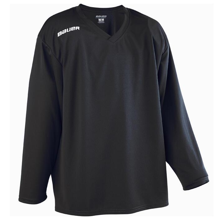 IJshockeyshirt voor volwassenen B200 zwart