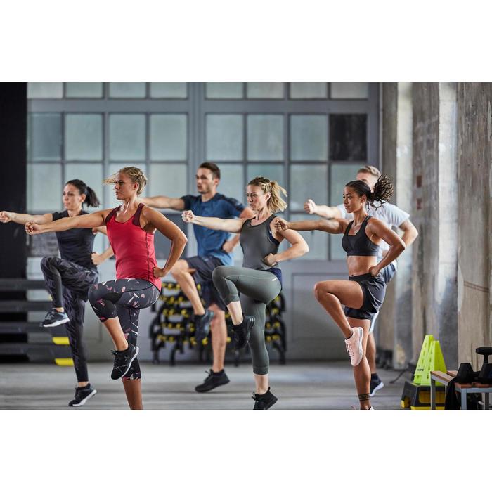 Fitnessschuhe Cardiotraining 500 Mid Damen schwarz