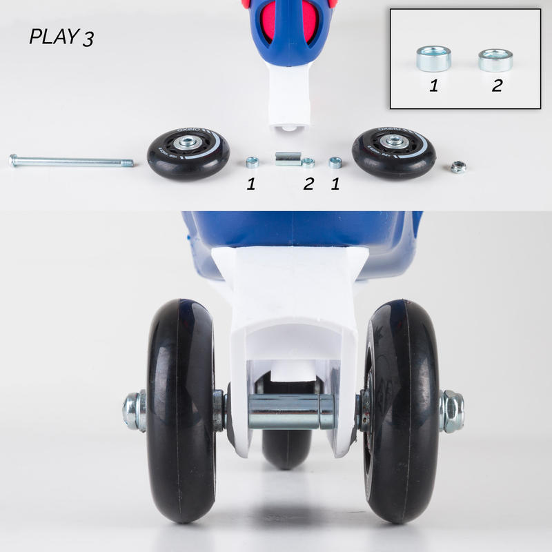 KIDS INLINE ROLLER SKATES PLAY 3 PINK/PURPLE