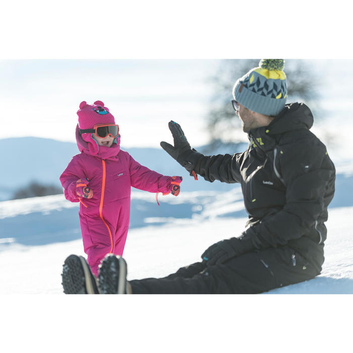 嬰幼兒滑雪/雪橇連身雪衣Warm - 粉色