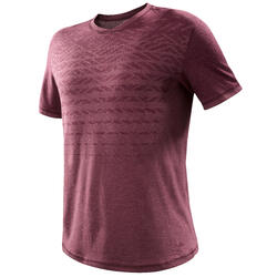 T-shirt wandelen in de natuur NH500 Fresh bordeaux heren