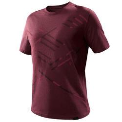 Camiseta senderismo naturaleza NH500 hombre chocolate
