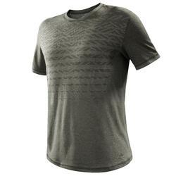 Men's country walking t-shirt NH500 fresh - khaki