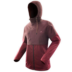 Chaqueta impermeable NH500 chocolate hombre
