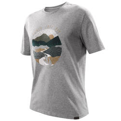 Camiseta senderismo naturaleza NH500 gris jaspeado hombre