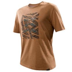 Camiseta senderismo naturaleza NH500 hombre avellana