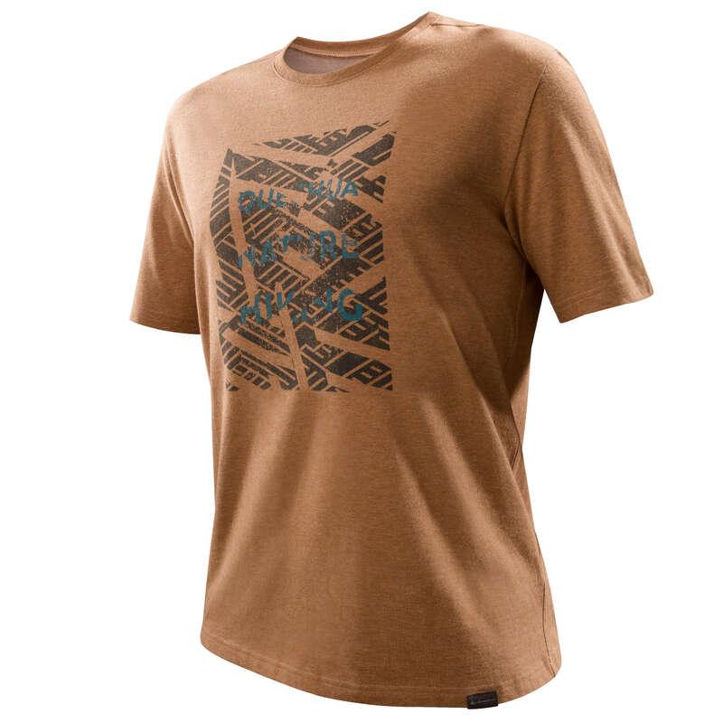 SHORT E T-SHIRT ESCURSIONE UOMO Sport di Montagna - T-shirt uomo NH500 nocciola QUECHUA - Materiale Trekking