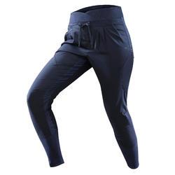 Pantalón senderismo naturaleza NH500 Fit azul marino mujer