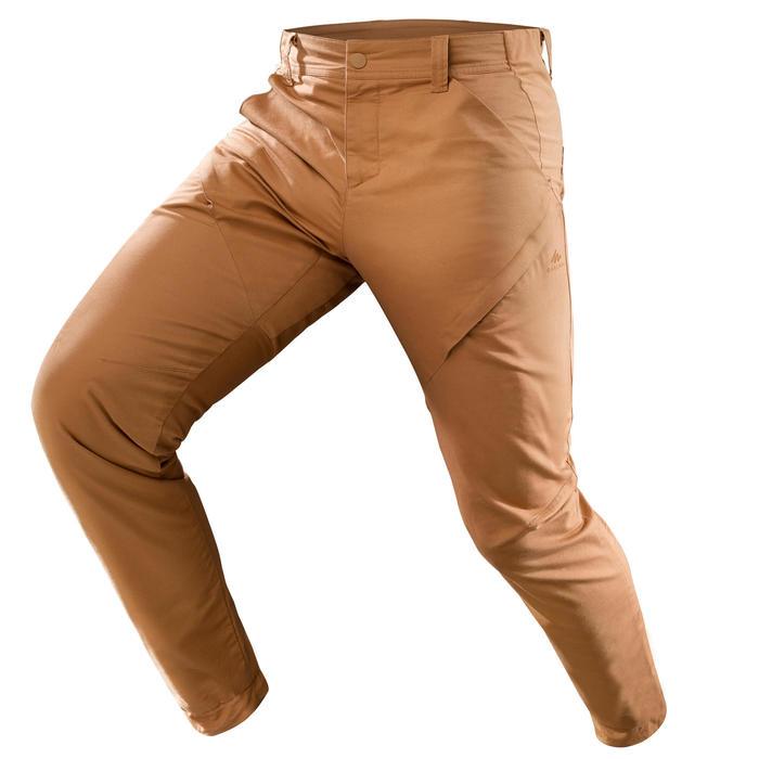 男款郊野健行長褲NH500 Slim