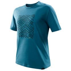 Tee shirt randonnée nature NH500 bleu homme
