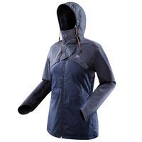 Chamarra impermeable senderismo naturaleza NH500 azul marino mujer