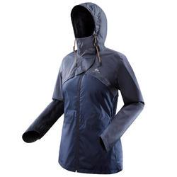 Wandelregenjas voor dames NH500 marineblauw