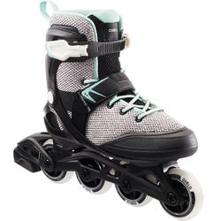 Patins à roues alignées entraînement pour femme FIT100 gris menthe