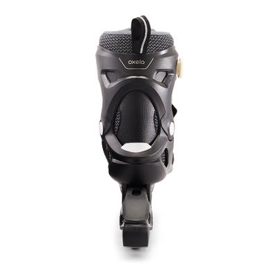 أحذية التزلج بالعجلات Fit100 - لون أسود/رمادى