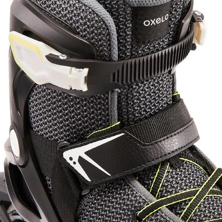 Sepatu Roda Fitness Fit100 - Hitam/Abu-abu