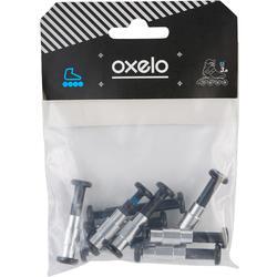Set 8+1 schroeven en 8 spacers voor plastic onderstel assen 6 mm