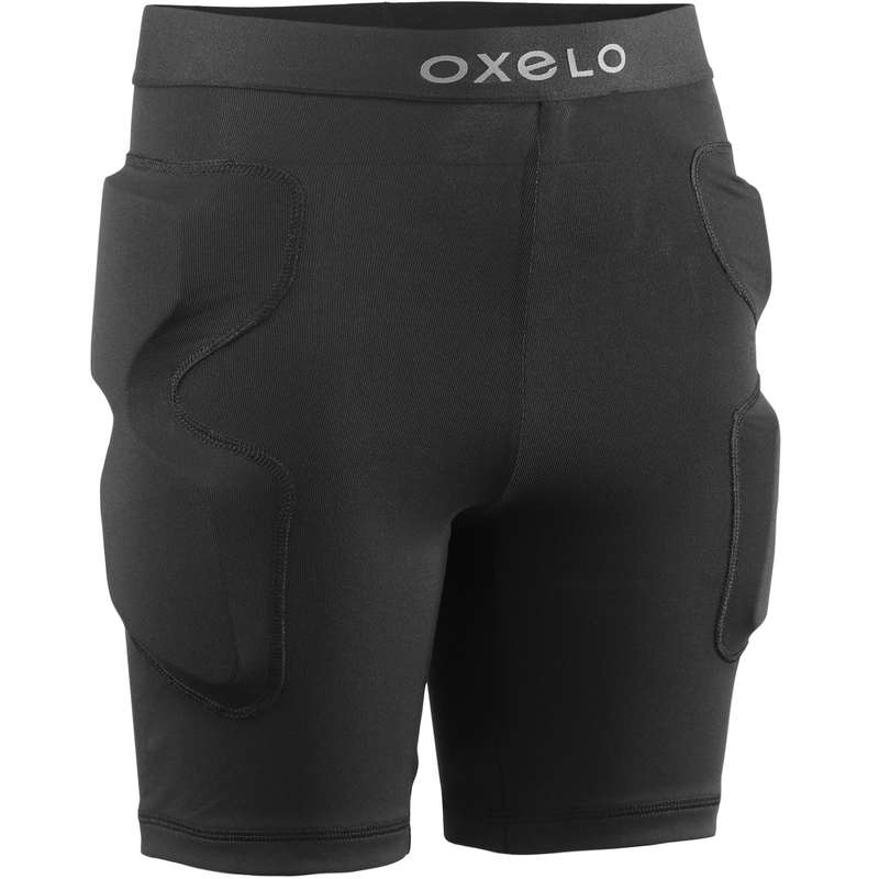 CHILD AND ADULT PADS Skateboarding and Longboarding - PS100 Protective Shorts Black OXELO - Skateboarding and Longboarding
