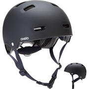 Črna in modra čelada MF500 za rolanje, rolkanje, vožnjo s skirojem ali kolesom