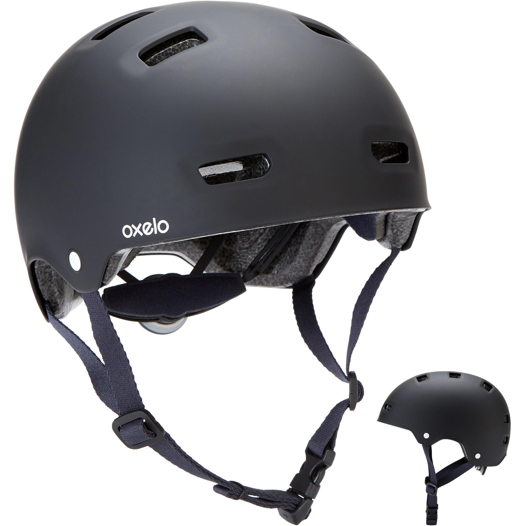 Oxelo Helm voor skeeleren, skateboarden, steppen MF500 zwart/blauw kopen