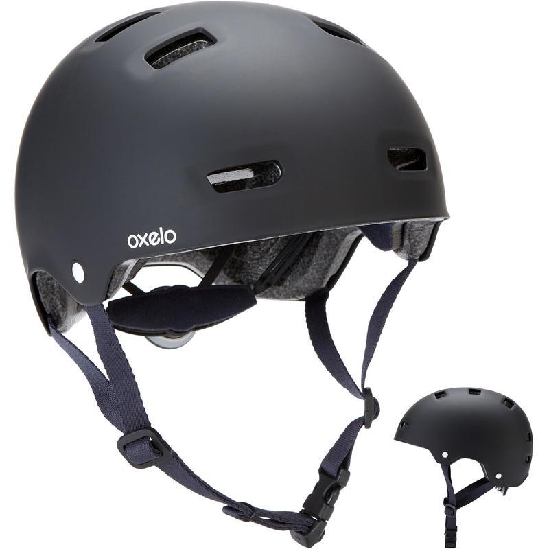 Helma na in-line brusle a skate MF500 černo-modrá