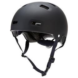 Skaterhelm MF500 für Inliner Skateboard Scooter schwarz/blau