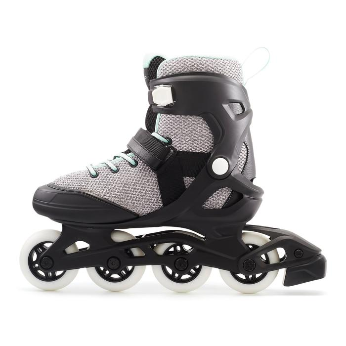 inline skates inliner fit 100 damen grau mintgr n oxelo. Black Bedroom Furniture Sets. Home Design Ideas