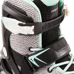 Fitnessskeelers voor dames FIT100 grijs/mint