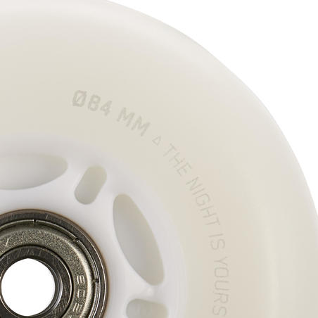 Light-Up 84 mm/82A Wheels and Bearings Twin-Pack - White/Blue Light