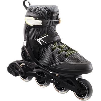 4c6c5573b أحذية التزلج بالعجلات Fit100 - لون أسود/رمادى