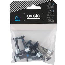 Set 8+1 schroeven en 8 spacers voor aluminium onderstel assen 8 mm