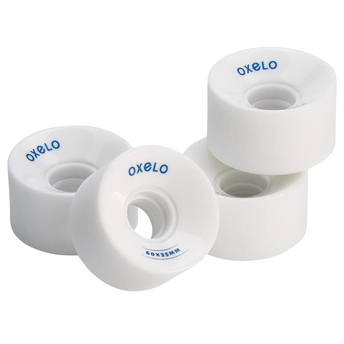 4 roues Roller Quad adulte OXELO 60mm blanc