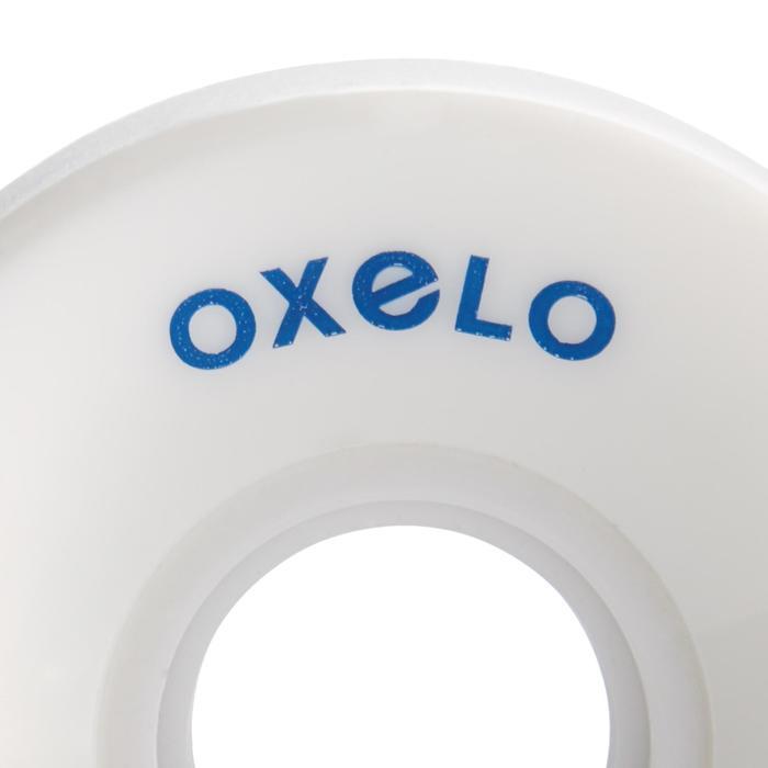 4 wielen 60 mm Oxelo-rolschaatsen volwassenen wit