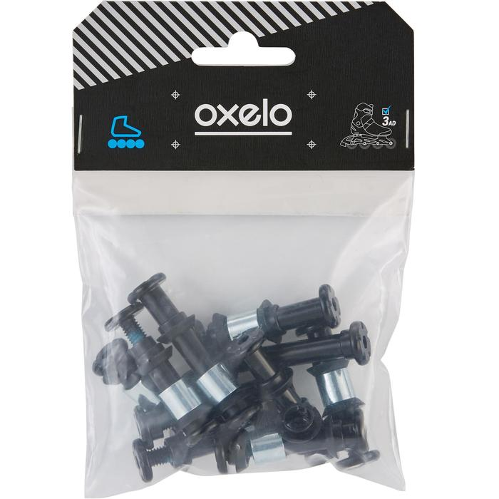 Pack 8+2 tornillos,8 separadores,16 outer-spacers roller PLATINA PLÁST. EJES 8mm