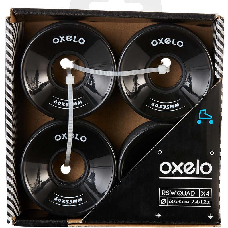 Взрослая защита Роликовые коньки - Колеса квады 60X35 ммx4 черные OXELO - Роликовые коньки