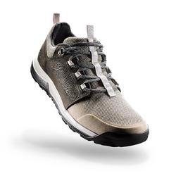 男款郊野健行鞋NH500-棕色/黑色