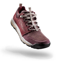 女款鄉村健行鞋NH500-褐紅色